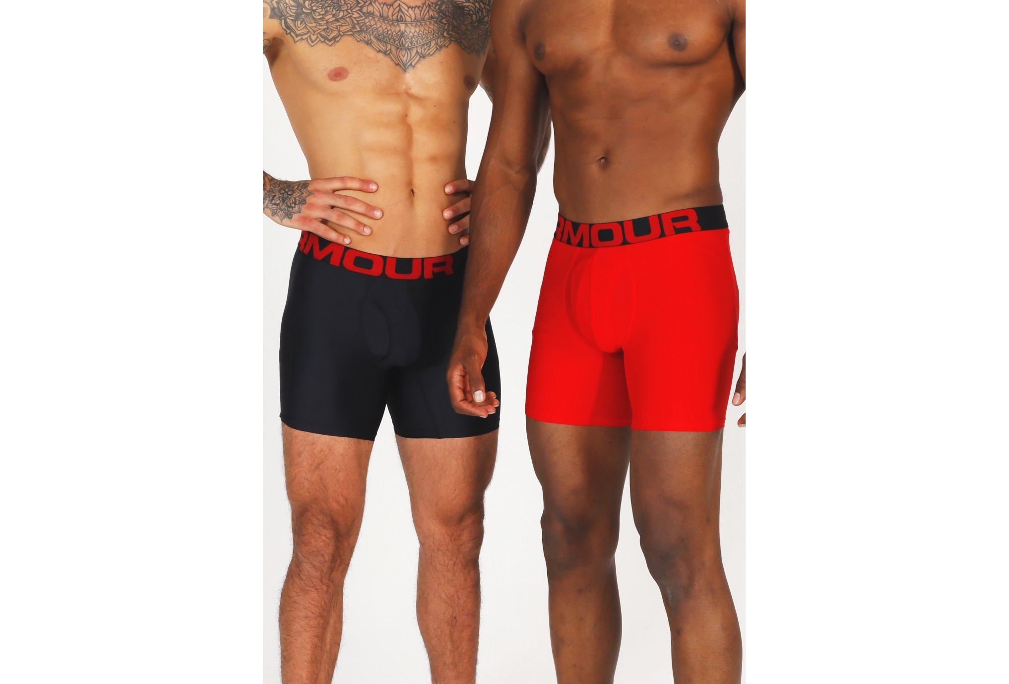 Under Armour Lot 2 Boxers Tech Boxerjock M vêtement running homme