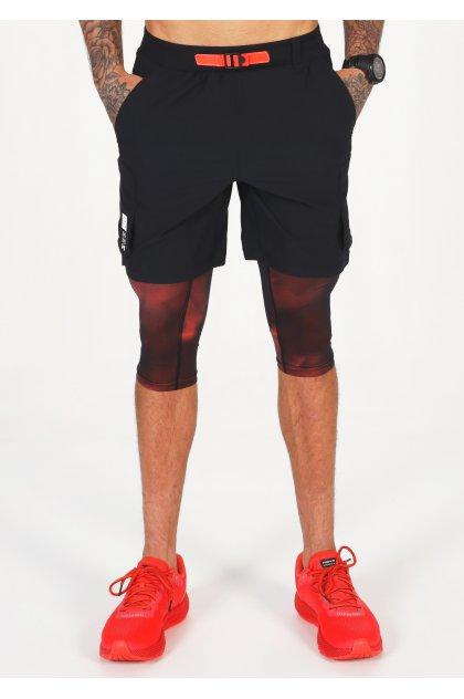 Under Armour pantalón corto Run Anywhere 2 en 1 M